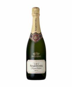 Simonsig Kaapse Vonkel Brut is een bubbel wijn die te koop is bij Wijnhandel Van Welie in Gouda
