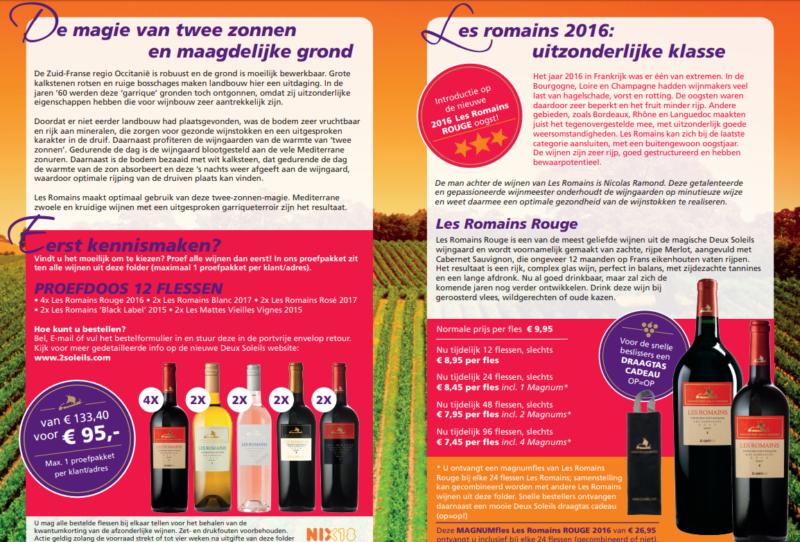 Proefdoos Wijn Les Romains van René Persoon Wijnhandel Van Welie Gouda