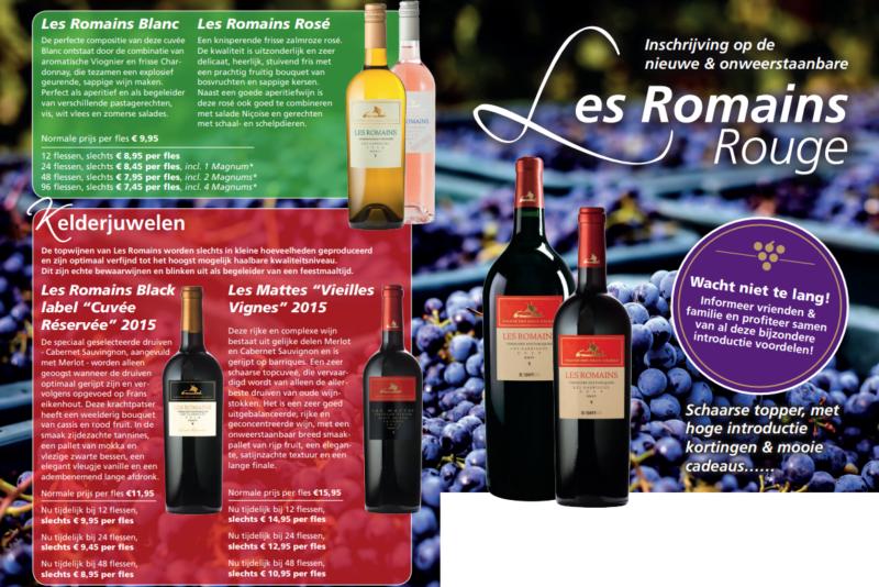 De kwaliteitswijnen van Les Romains zijn te koop en online te bestellen bij Wijnspecialist Wijnhandel Van Welie in Gouda